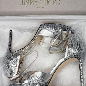 Jimmy Choo Romy 85 Coarse Glitter Degrade Heels